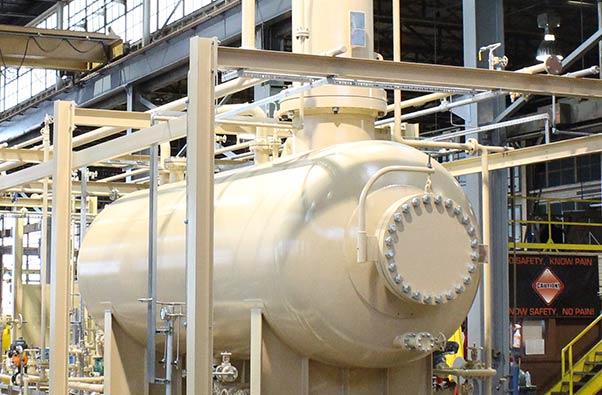 Pressure tank in Merichem's facility